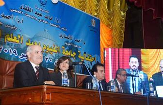 وزيرة الهجرة تشارك في احتفالية جامعة الفيوم بعيد العلم الثاني عشر | صور