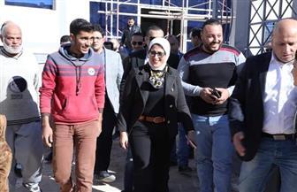 وزيرة الصحة تتفقد مشروع أول مستشفى تعليمي بطور سيناء | صور