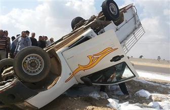 مصرع مواطن وإصابة امرأة وطفل في حادث انقلاب سيارة ببورسعيد