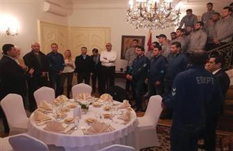 سفير مصر في صربيا يستقبل بعثة اليد