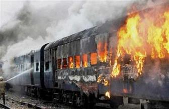 الأجهزة الأمنية تتوصل لأسباب حريق عربة قطار بمحطة كفرالزيات