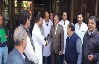 رئيس جامعة الأزهر في زيارة مفاجئة إلى مستشفى الحسين الجامعي | صور