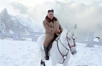 زعيم كوريا الشمالية يمتطي حصانا بأعلى قمة جبل ثلجية | صور