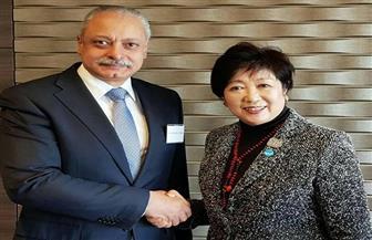 سفير مصر باليابان يلتقي محافظ طوكيو ويطلع على الاستعدادات لدورة الألعاب الأولمبية