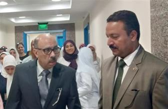 وكيل وزارة الصحة بأسيوط يفاجئ وحدة أورام الثدي   صور