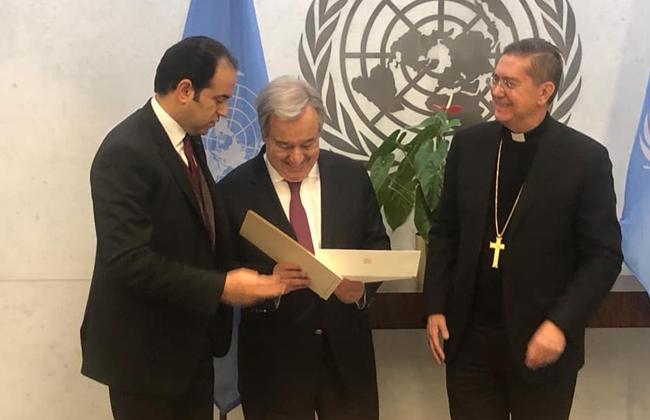 ننشر رسالة شيخ الأزهر وبابا الفاتيكان إلى الأمين العام للأمم المتحدة   صور