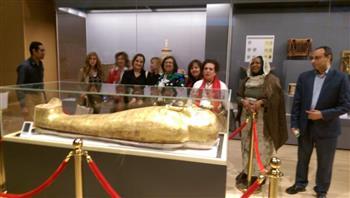 المتحف القومي للحضارة المصرية يستقبل ضيوف الملتقى الثاني للمبدعات العربيات