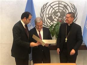 الأمين العام للجنة الأخوة الإنسانية يلتقي الأمين العام للأمم المتحدة| صور