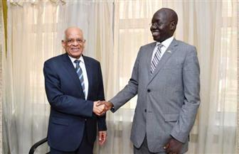 عبدالعال لوزير الطرق الجنوب سوداني: الشركات المصرية تمتلك خبرة تنفيذ الطرق والكباري في توقيتات قياسية | صور