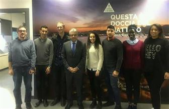 القنصل العام في ميلانو يلتقي عددا من الشباب المشاركين في النسخة الثالثة من منتدى شباب العالم | صور