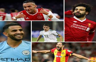 5 لاعبين عرب ضمن قائمة أفضل لاعب في إفريقيا هذا العام