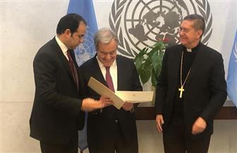 ننشر رسالة شيخ الأزهر وبابا الفاتيكان إلى الأمين العام للأمم المتحدة | صور