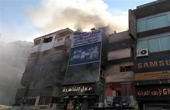 الحماية المدنية تسيطر على حريق في مول تجاري بالسويس   صور