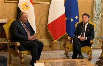 رئيس الوزراء الإيطالي يستقبل سامح شكري| صور