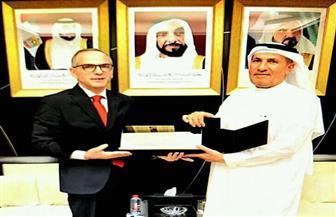 القنصل المصري الجديد يلتقي مدير فرع الخارجية الإماراتية في دبي | صور