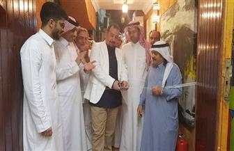 هشام قنديل يفتتح مرسم الفنان السعودي عبدالله حماس في جدة | صور