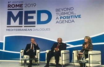 وزير الخارجية يشارك في جلسة حوارية بمنتدى روما للحوار المتوسطي | صور