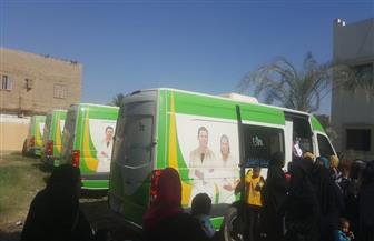 الكشف على 2481 مواطنا في قافلة طبية بقرية نجع العمدة في قوص | صور