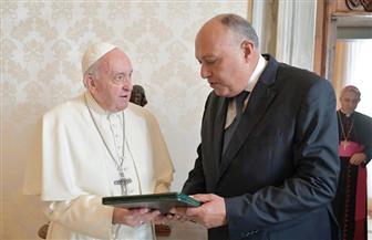 تفاصيل استقبال بابا الفاتيكان وزير الخارجية سامح شكري | صور