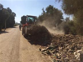 رفع 35 طن تراكمات ومخلفات بمدينة الزينية شمال الأقصر | صور