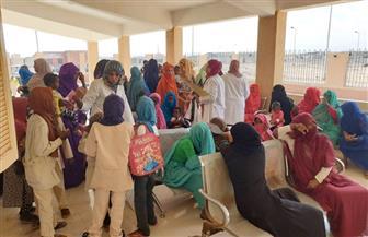 قافلة جامعة القاهرة الشاملة تجري الكشف على 1401 في حلايب و972 في أبو رماد   صور
