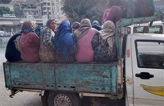 ضبط سيارة نصف نقل محملة بـ20 سيدة على الطريق الزارعي بطنطا | صور