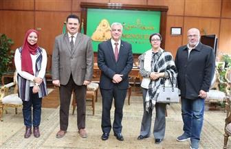 رئيس جامعة المنوفية يستقبل مدير معهد تكنولوجيا المعلومات | صور