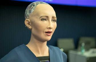 الروبوت صوفيا تتحدث للحضور خلال فعاليات منتدى شباب العالم 2019