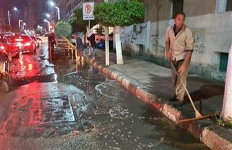 محافظ الدقهلية يوجه برفع تجمعات مياه الأمطار من شوارع المنصورة| صور