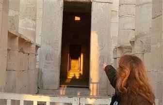 تعامد الشمس اليوم على قدس أقداس معبد حتشبسوت فى عيد حورس| صور