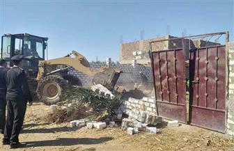 إزالة 66  حالة تعد على الأراضي الزراعية ومنافع الري بسوهاج