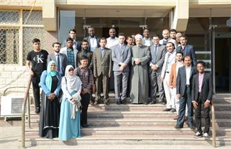 أعضاء برلمان الطلاب الوافدين في ضيافة منظمة خريجي الأزهر| صور