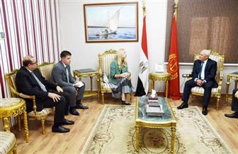 محافظ بورسعيد يستقبل القائمة بأعمال السفارة الروسية بالقاهرة| صور