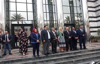 القائمة بأعمال السفارة الروسية بالقاهرة تزور المنطقة الصناعية وأنفاق بورسعيد | صور