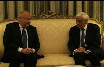 سفير مصر لدى اليونان يقدم أوراق اعتماده لرئيس الجمهورية الهيلينية اليونانية