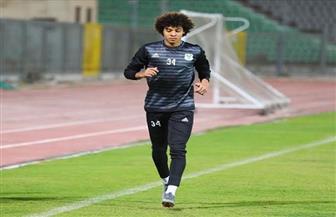 زياد فرج يخوض مرانا منفردا بتدريب المصري
