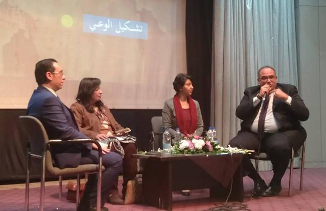نور الشيخ من أمسية  الحركة الوطنية : الشائعات تؤدي إلى زعزعة الاقتصاد  صور -