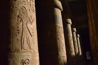 """""""هابو"""" ثالوث طيبة المقدس.. أفخم معابد الأقصر أثاثا ونقشا.. تعرف على تاريخه  صور"""