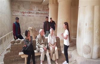 الرئيس الفرنسي الأسبق يصل إلى أسوان لزيارة المعالم الأثرية