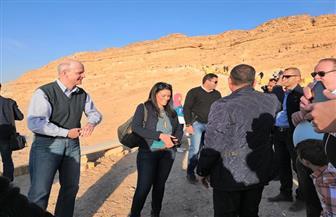 """وزيرا السياحة والآثار يفتتحان مقبرة """"خنوم حب""""  صور"""