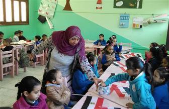 انتظام 65 ألف طالب بمدارسهم فى اليوم الأول للفصل الدراسي الثاني بالوادي الجديد   صور