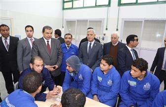 وزير القوى العاملة ومحافظ المنوفية يتفقدان مدرسة العربي الثانوية للتكنولوجيا التطبيقية|صور