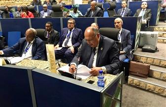 """"""" شكري"""" يؤكد التزام مصر الكامل بدعم الأشقاء في ليبيا على كافة الأصعدة"""
