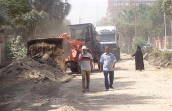 إغلاق طريق حسب الله الشرقي بالأقصر لحفر خط الصرف الصحي