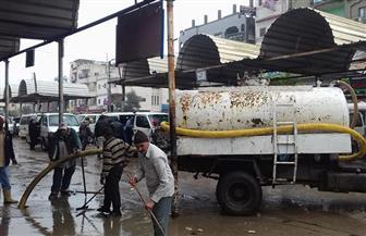 استمرار جهود إزالة مياه الأمطار من شوارع كفر الشيخ | صور