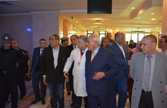 محافظ الدقهلية يتفقد مستشفى الكبد المصري بشربين