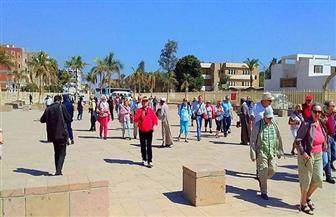 سوهاج تستقبل 64 سائحا ألمانيا لزيارة المنطقة الأثرية بأبيدوس | صور