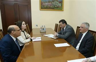 سفير مصر بأرمينيا يبحث مع جريجوريان انضمام مصر للاتحاد الأوروآسيوي | صور