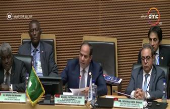 الرئيس السيسي في ختام القمة الإفريقية: تهيئة الأوضاع لعودة النازحين إلى ديارهم في أقرب وقت