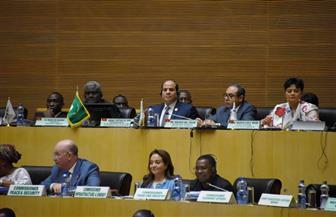 تفاصيل ترؤس الرئيس السيسي أعمال اليوم الثاني من قمة الاتحاد الإفريقي |صور